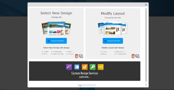 Changing Design Layouts